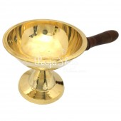 Mahalakshmi Dhoop Aarti Lamp With Wooden Handle