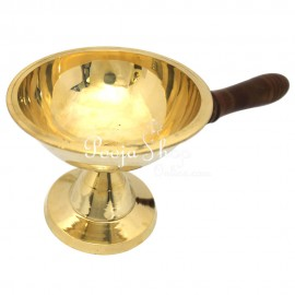 Mahalakshmi Dhoop Aarti Lamp With Wooden Handle
