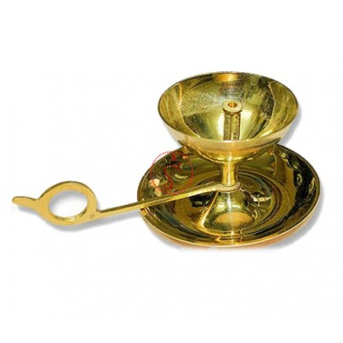 Aarti Lamp With Handle in Brass