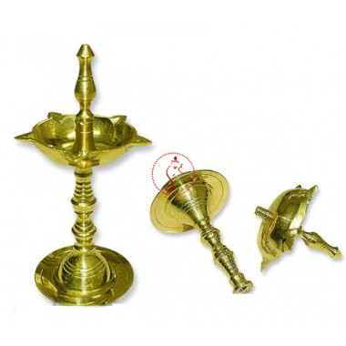 Artistic Samai Oil Lamp In Brass