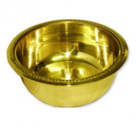 Bowl For Offering Prasad In Brass With Fine Finish