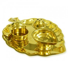 Pepal Leaf Shaped Pooja Thali