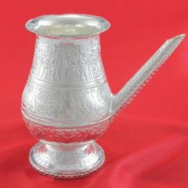 Pot With Spout In German Silver