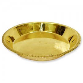 Exotic Pooja Plate In Brass