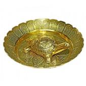 Kurma Avataar Plate In Brass