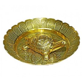 Kurma Avataar Plate In Brass