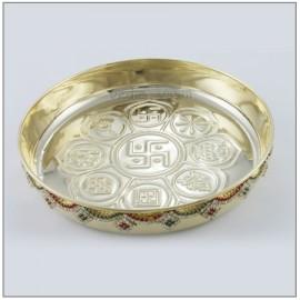 Pooja Thali - Gemstone Design