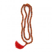 Panchmukhi Rudraksha Mala In Thread - 4mm Size