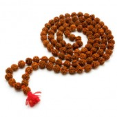 Panchmukhi Rudraksha Mala In Thread - 7mm Size