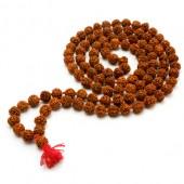Panchmukhi Rudraksha Mala In Thread - 7mm Size