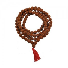 Panchmukhi Rudraksha Mala In Thread - 8mm Size