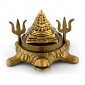 Shri Yantra On Kurma With Trident