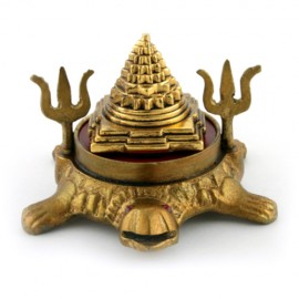 Shri Yantra On Kurma With Trident