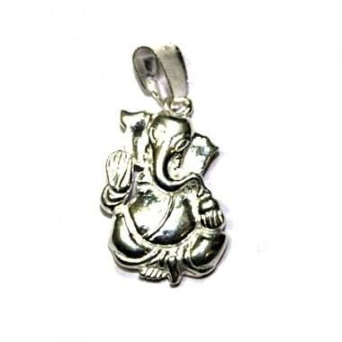Blessing Ganesha Locket In Silver