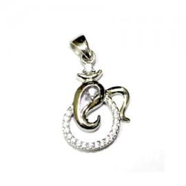Om Ganesha Locket In Silver