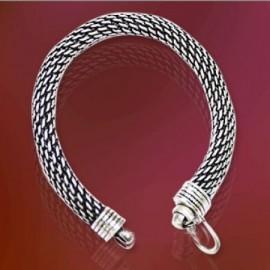 Snake Silver Bracelet-Thick