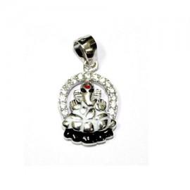 Vighnaraja Ganesh Locket In Pure Silver