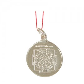 Baglamukhi Yantra Locket In Silver
