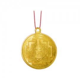 Hanuman Yantra Locket In Copper Gold Polish