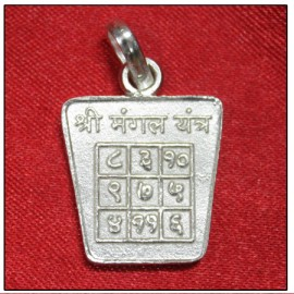 Mangal / Mars Yantra Locket In Pure Silver