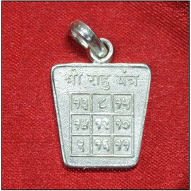 Rahu Yantra Locket In Pure Silver