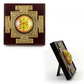 Shri Yantra In Wooden Frame