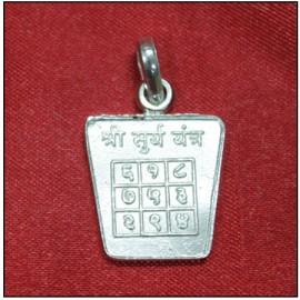 Surya / Sun Yantra Locket In Pure Silver