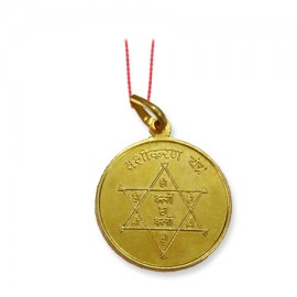Vashikaran Yantra Locket In Copper Gold Polish